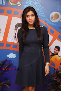 Actress Mannara Chopra Stills in Blue Short Dress at Rogue Song Launch at Radio City 91.1 FM  0025.jpg