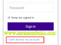 Cara membuka email yahoo lupa password atau lupa kata sandi