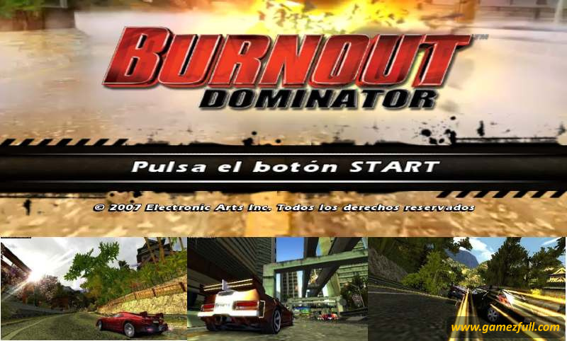 Burnout Dominator psp español
