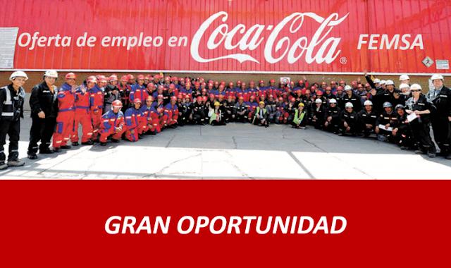 Ofertas de Empleo en Coca Cola Sin Experiencia, mas de 500 VACANTES