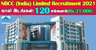 NBCC Recruitment 2021 120 Site Inspector Posts