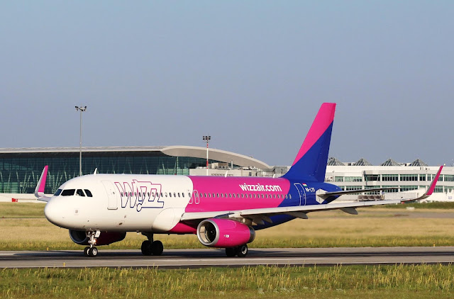 Wizz Air A320 at Budapest Airport