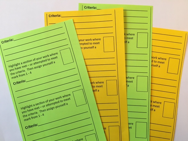 Using feedback checklists to make students more responsible for their learning