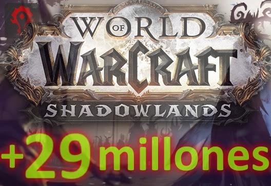 WoW Shadowlands supera los 29 millones de usuarios