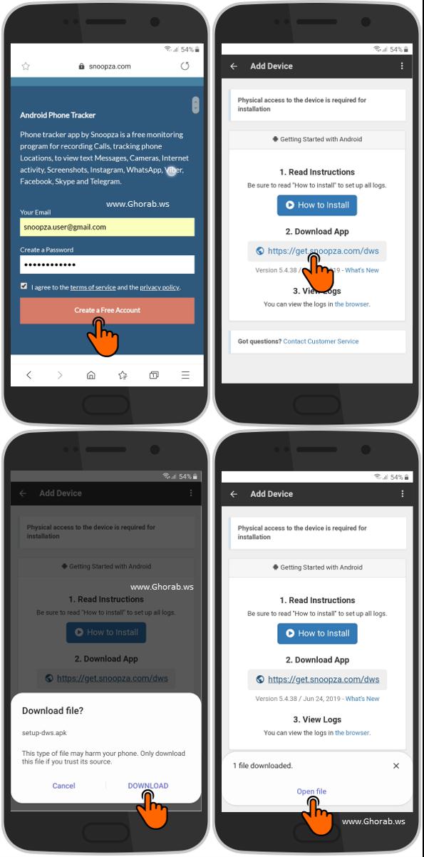 Download Snoopza App