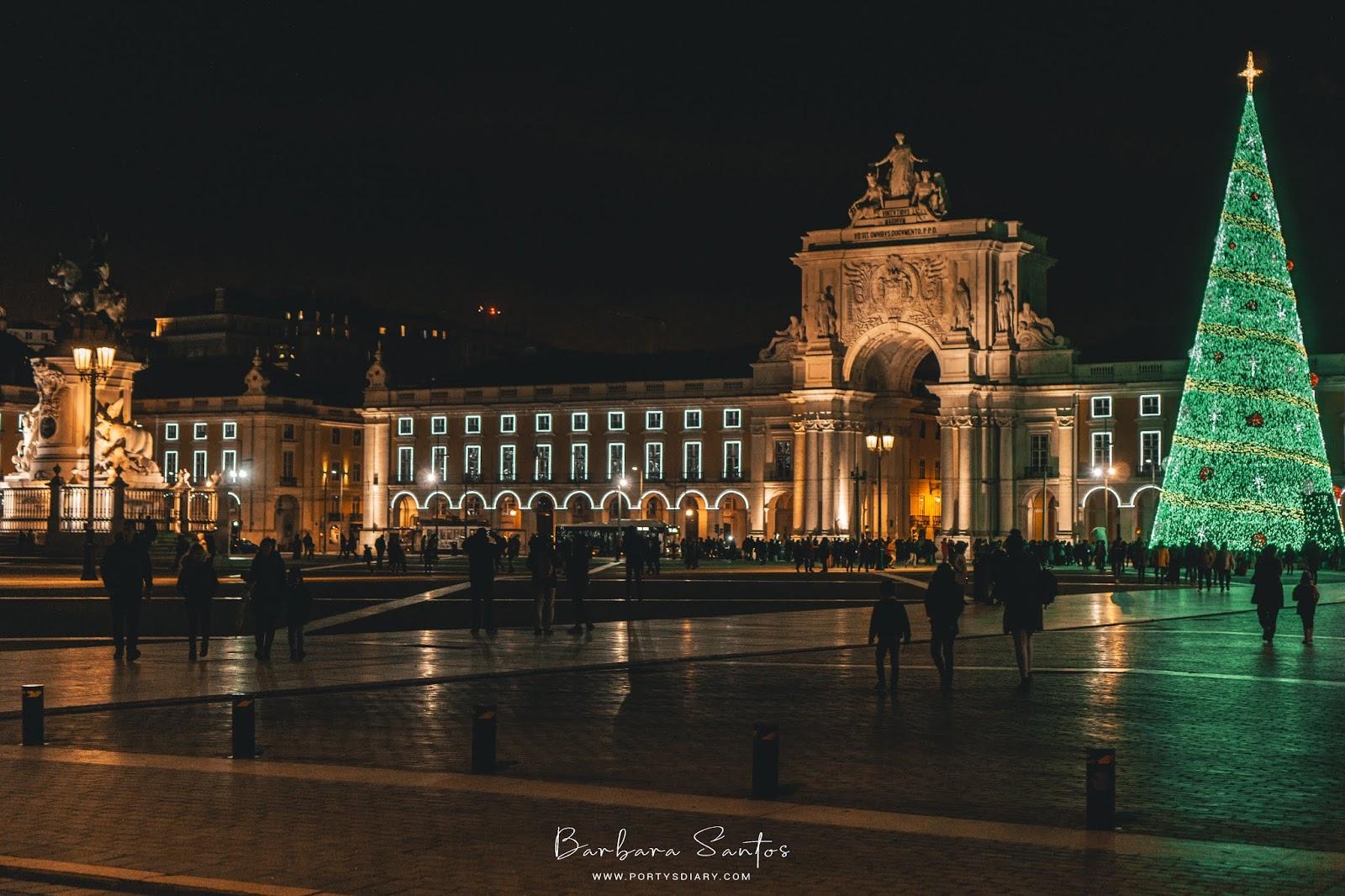 Praça do Comércio during Christmas time