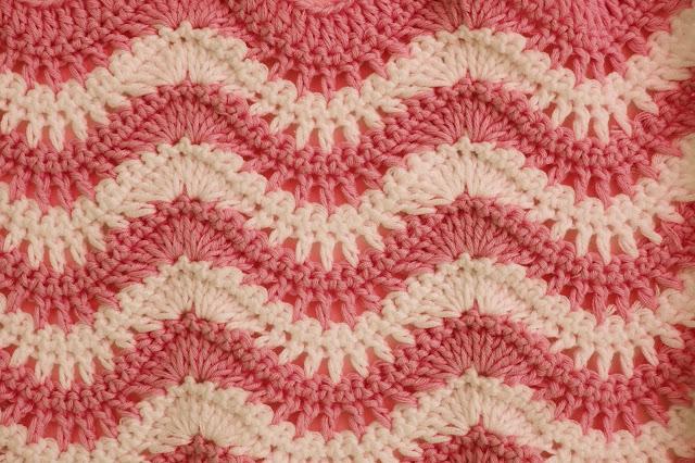 6 - Crochet Puntada ondas combinada a crochet y ganchillo por Majovel Crochet paso a paso
