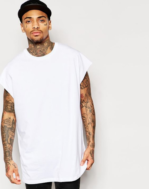 Camiseta Masculina com Oversized Sleeveless