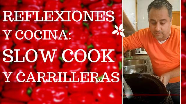 olla cocción lenta cocinando carrilleras con setas