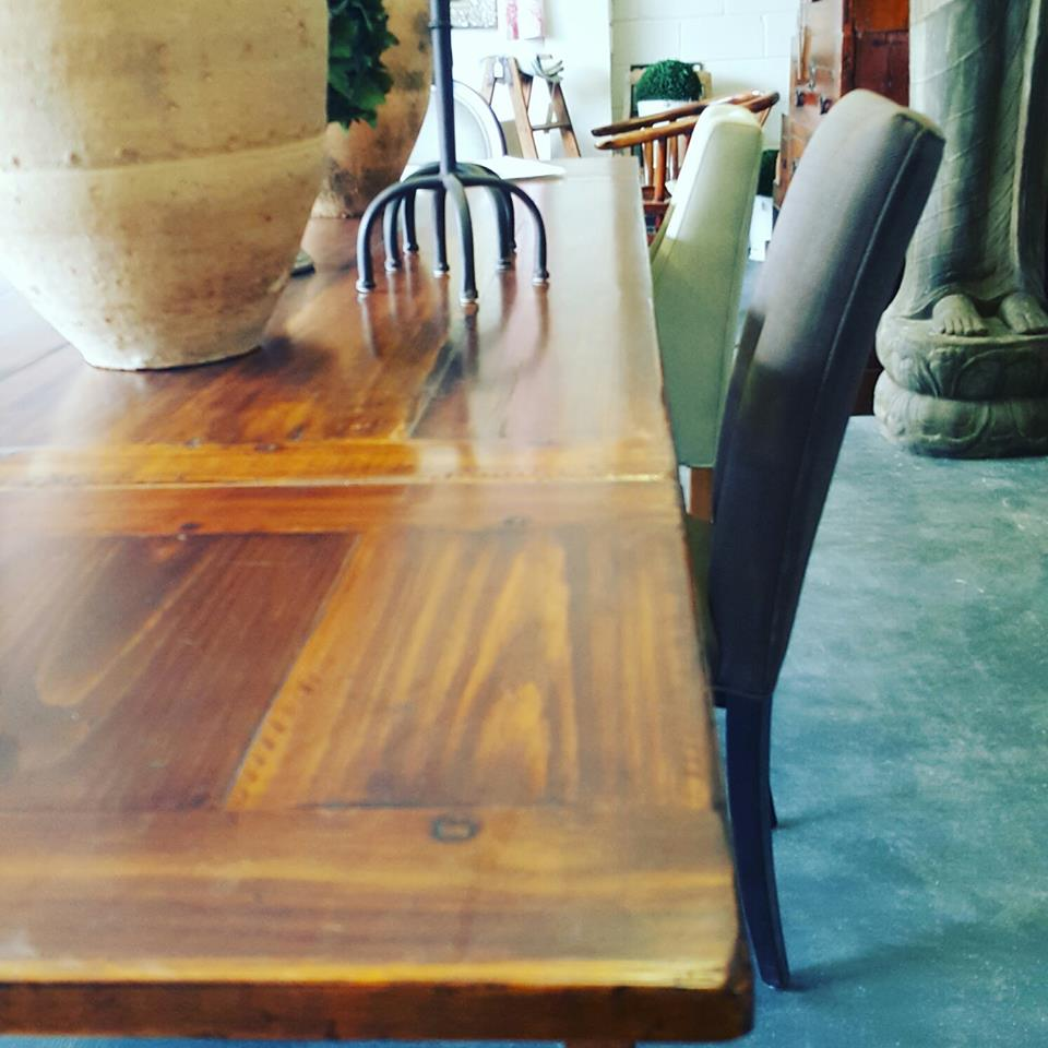 dining tables brisbane parquetry french oak extension style round