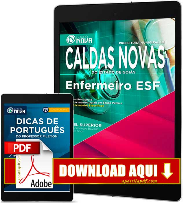 Apostila Prefeitura de Caldas Novas 2016 PDF Download Enfermeiro ESF PDF