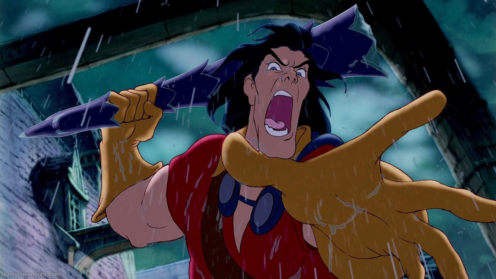 Resultado de imagem para beauty and the beast 1991 gaston fights the beast