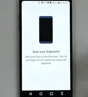 Scan Fingerprint LG G6