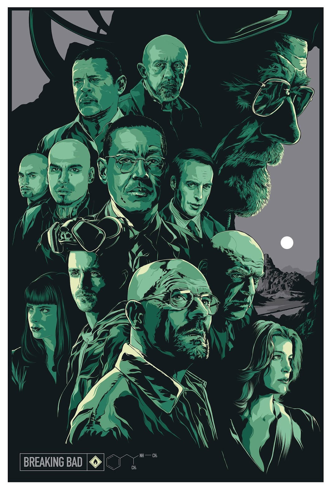 inside the rock poster frame blog the final breaking bad art project poster by ken taylor revealed. Black Bedroom Furniture Sets. Home Design Ideas