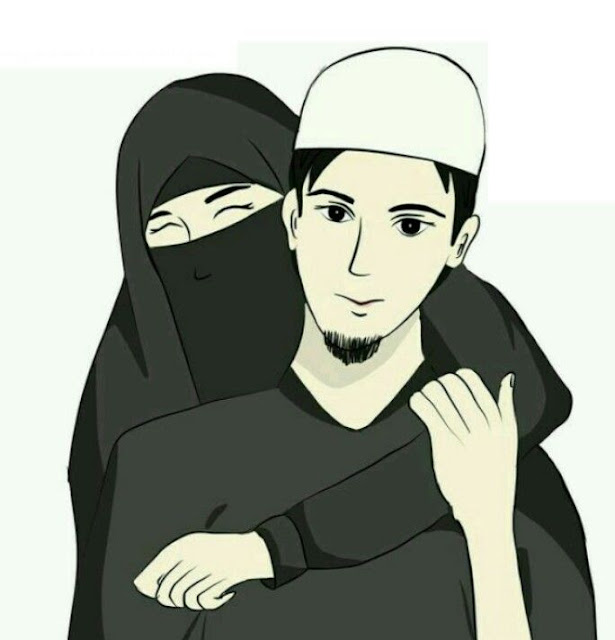 40+ Cute Muslim Couple Cartoon DP Pics HD Images Wallpaper