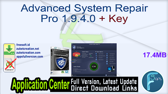 Advanced System Repair Pro 1.9.4.0 + Key