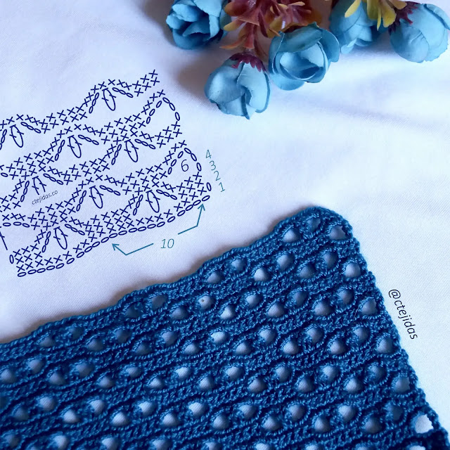 Tutorial Punto Panal a Crochet | 3 Minutos