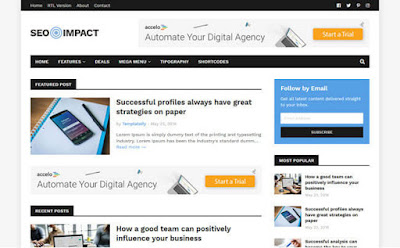 SEO impact best blogger and premium templates