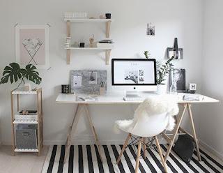 Zona de estudo minimalista