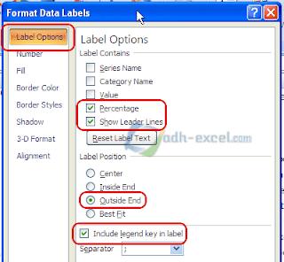 Label Options Grafik Pie Excel