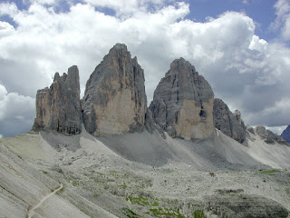 The Tre Cime di Lavaredo, where Cassin embarked on some of his earliest climbing challenges