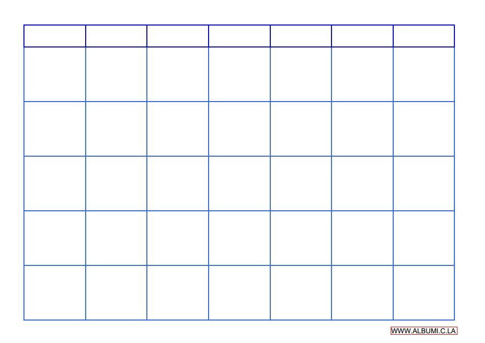 Blank Calendar Grid Pdf  Imvcorp