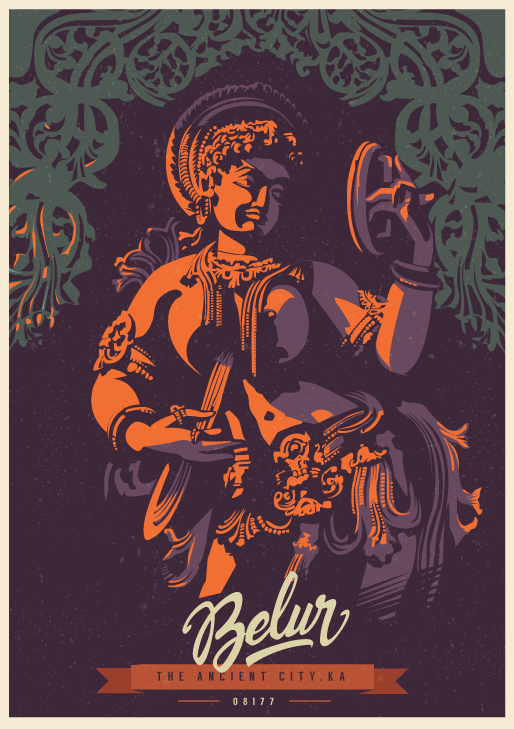Belur - The Ancient City Travel Poster