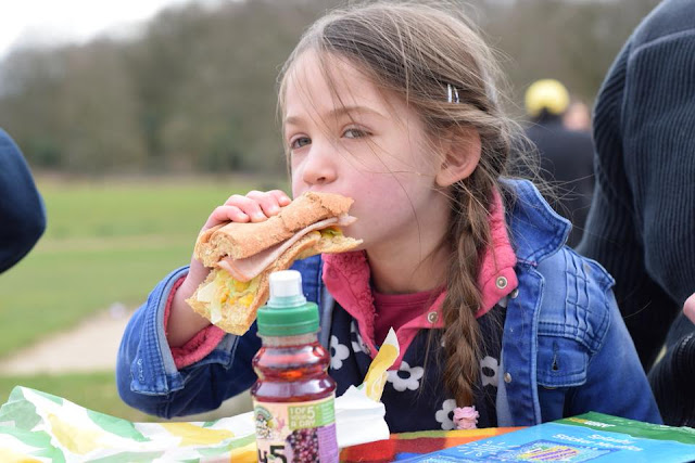 Eating Subway in the Park #kidseatfree