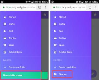Cara Membuat Folder Mail di Yahoo! Di Handphone