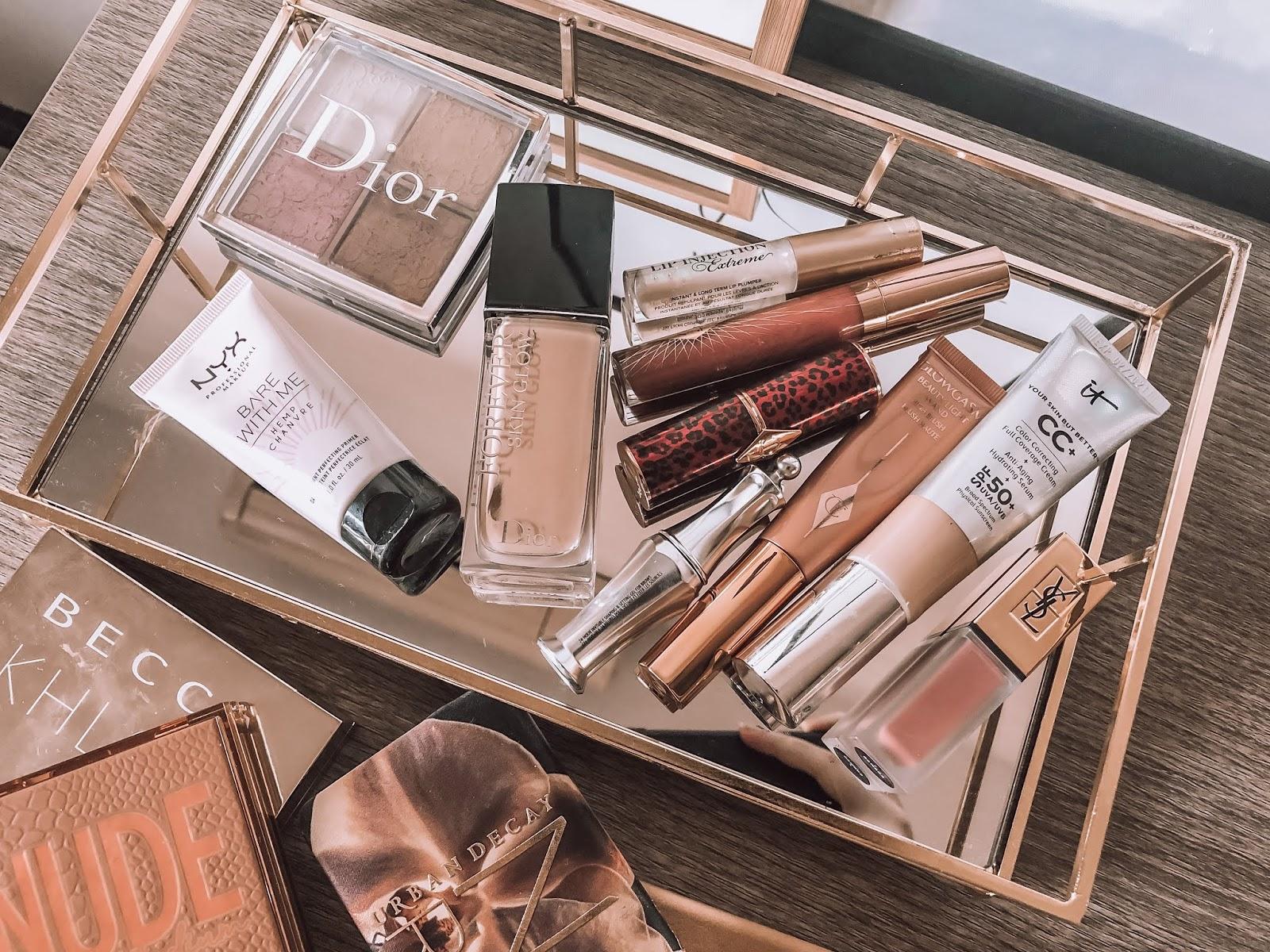 2019 beauty favorites, charlotte tilbury, dior, it cosmetics, abh, becca, huda,nyx