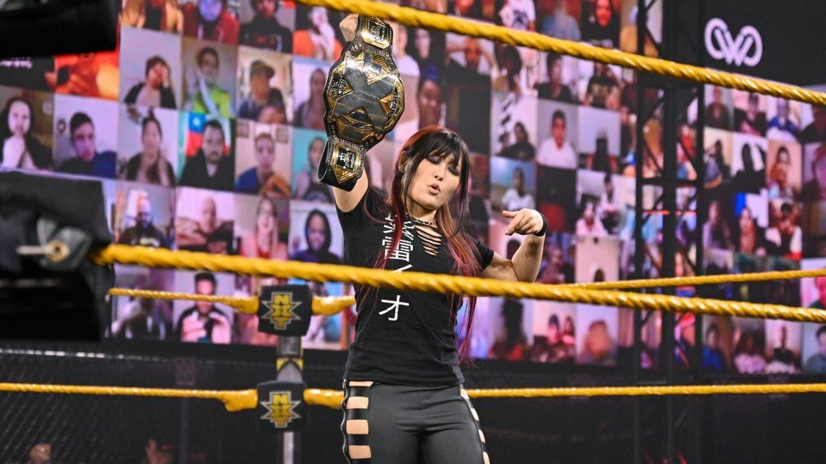 Io Shirai quer defender seu NXT Women's Title contra Meiko Satomura na WrestleMania