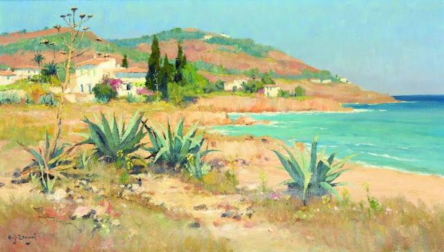Adrianus Johannes Zwart, Mallorca en Pintura, Cala San Vicente, Mallorca en Pintura, Paintirng of Cadaqués, Mallorca pintada, Paisajes de Mallorca, Mallorca en Pintura