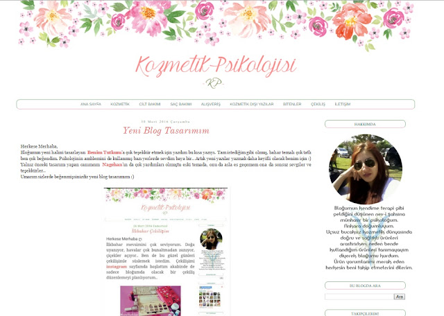 Kozmetik Psikolojisii, blog tasarım