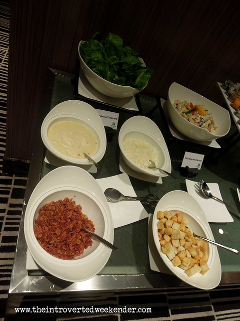 Salad station at Holiday Inn Makati