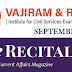 Vajiram and Ravi Recitals September 2021 Current Affairs PDF