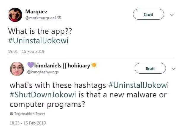 Riuh #UninstallJokowi,  Orang Asing: ..Is That A New Malware?