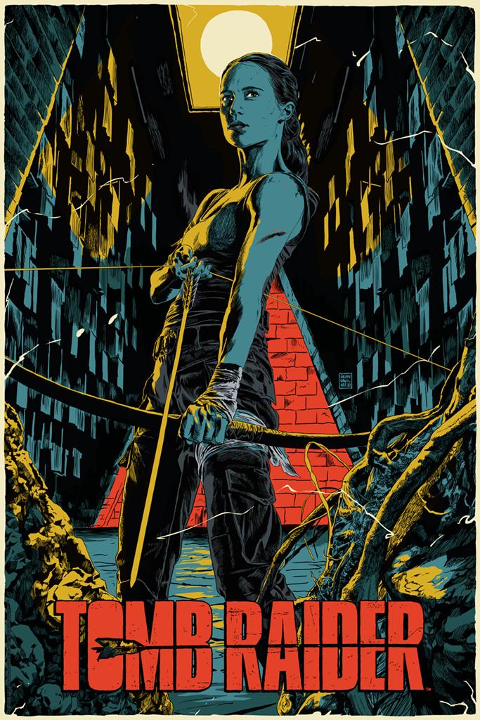 Inside The Rock Poster Frame Blog Francesco Francavilla Tomb Raider Movie Poster Release By Mondo