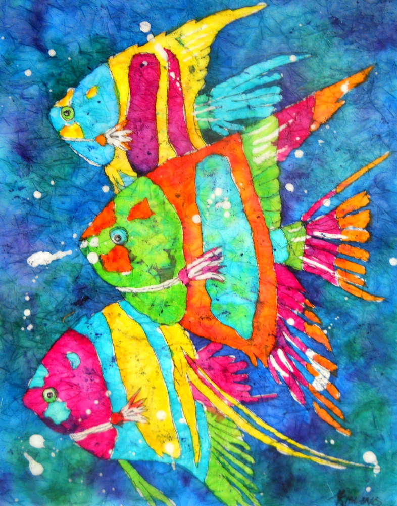 Martha Kisling Art With Heart Tropical Fish Watercolor
