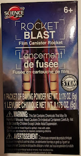 Packaging for Science By Me Rocket Blast Film Canister Rocket