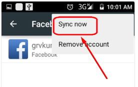 Sync Facebook Contacts Android Kitkat<br/>