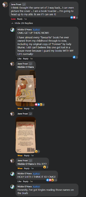 Facebook conversation on Clare Mackintosh's book club group