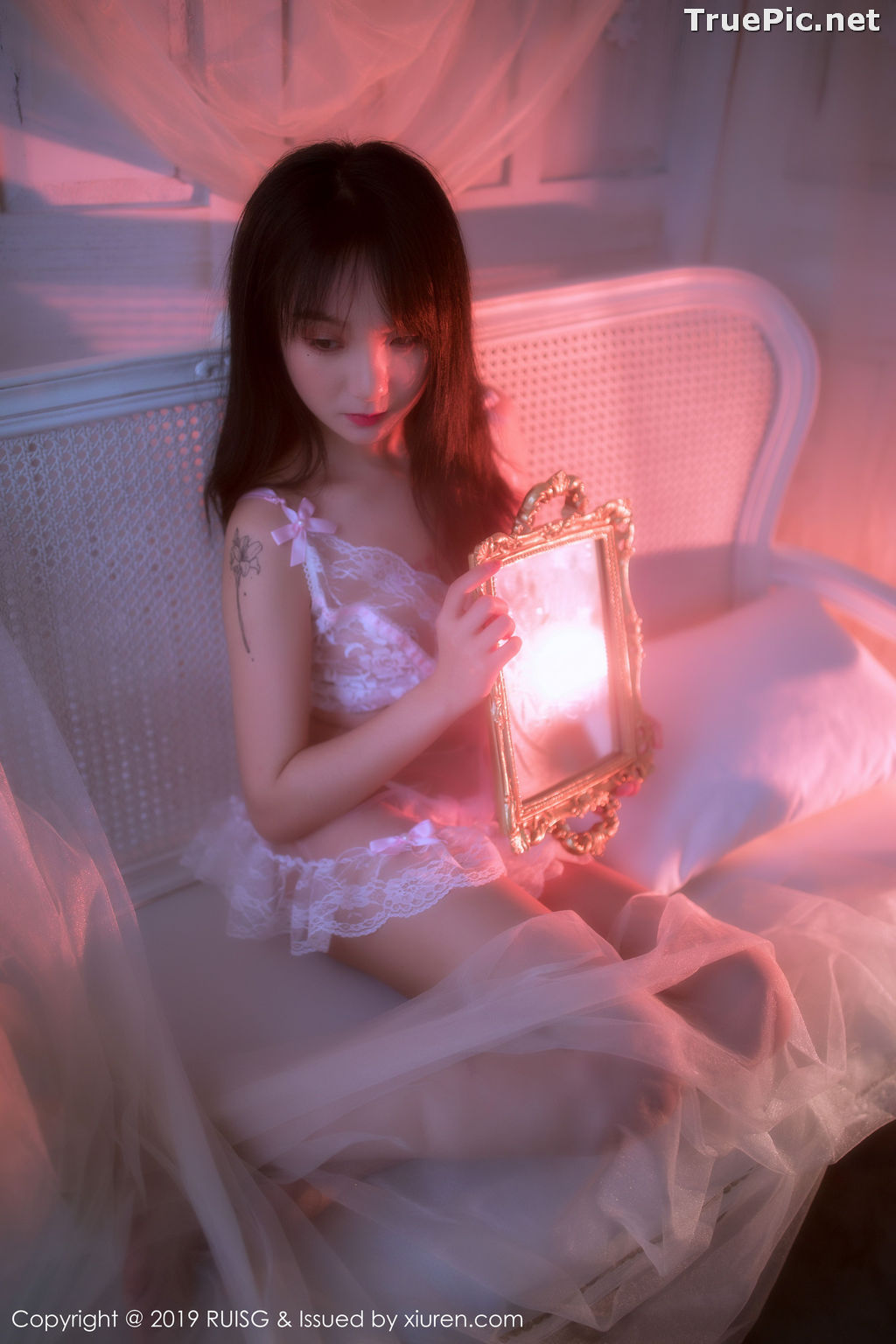 Image RuiSG Vol.079 - Chinese Model 小葡萄miki - White Angel In The Mirror - TruePic.net - Picture-7