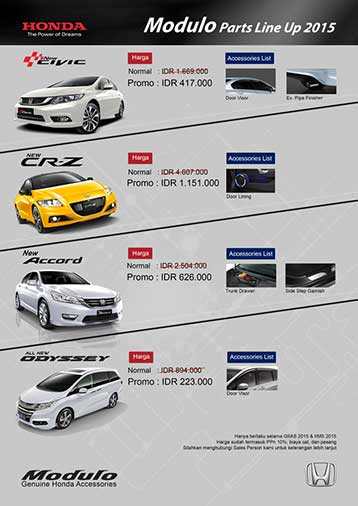 Aksesoris Mobil Honda Bandung
