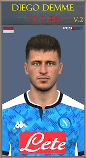 PES 2017 Faces Diego Demme by Mo Ha