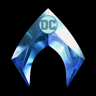 Aquaman logo - stylised A in metallic