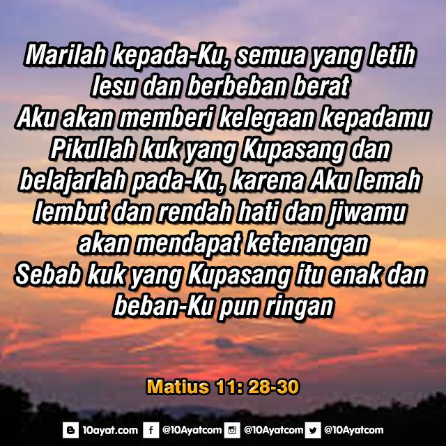 Matius 11: 28-30