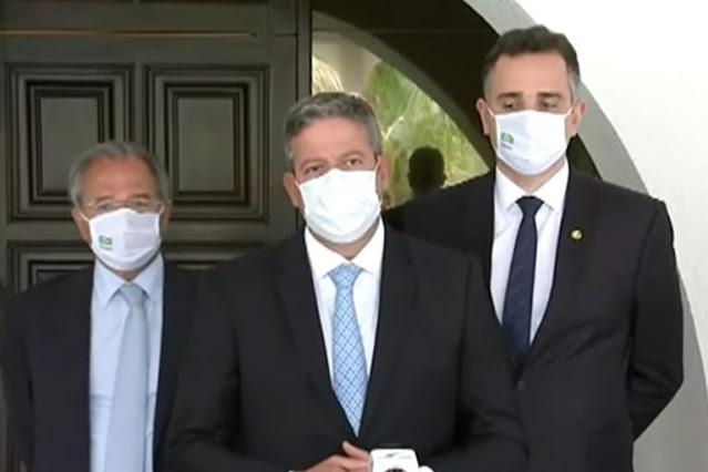 Lira e Pacheco mantêm votações da agenda econômica e auxílio emergencial