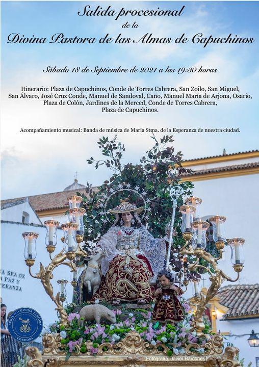 Horario e Itinerario de la Procesión de la Divina Pastora de las Almas de Capuchino de Córdoba 2021