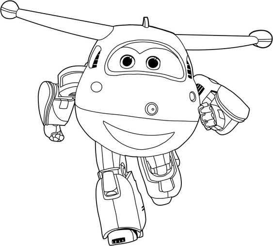 Super wings smart coloring pages 0