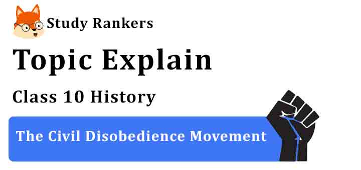 The Civil Disobedience Movement - Chapter 2 Nationalism in India Class 10 History